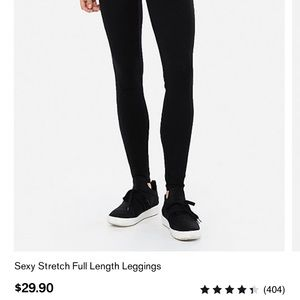 Express Sexy Stretch Black Leggings